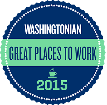 Washingtonian Great Places to Work 2015 badge