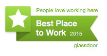 Glassdoor Best Place to Work 2015 badge