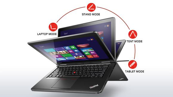 Lenovo Laptop Convertible Thinkpad Yoga Silver Front