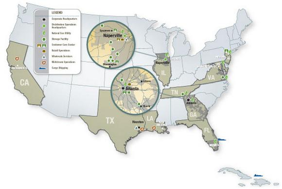 Agl Resources Inc Map