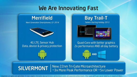 Intel Silvermont Merrifield Bay Trail