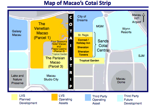 Map Of Cotai Strip