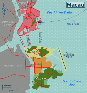 Macao And Hengqin Map Via Wikitravel