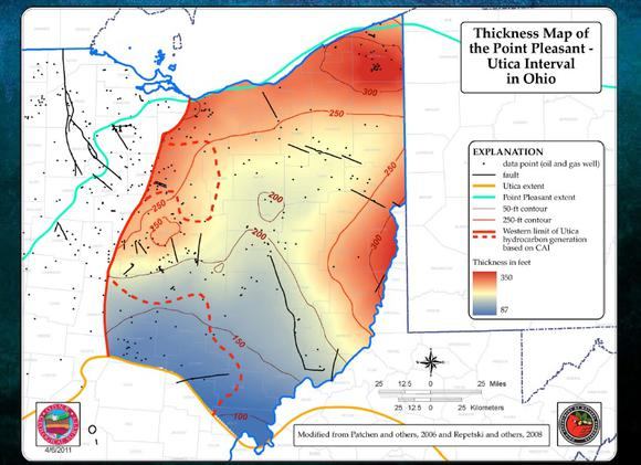 Thickness Map Of The Utica Shale Play
