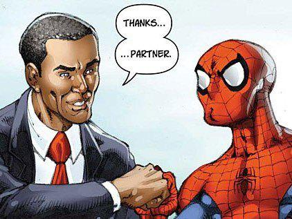 Obama Spiderman Thumb