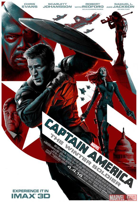 Captain America The Winter Soldier Box Office Poster
