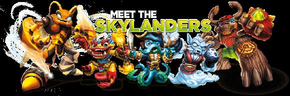Skylanders Characters Header En