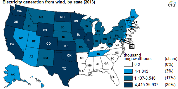 Eia Wind Map