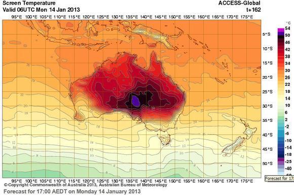 Australia Temp Map