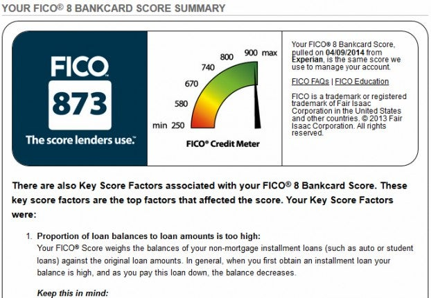 what is a 598 credit score
