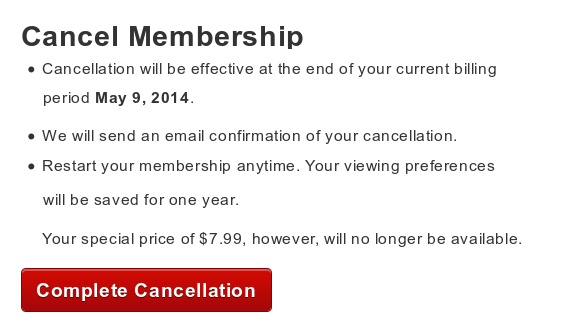 Complete Cancellation