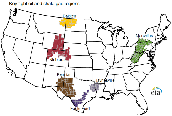 Eia Shale Oil And Gas Map