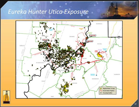 Eureka Hunter Utica Exposure
