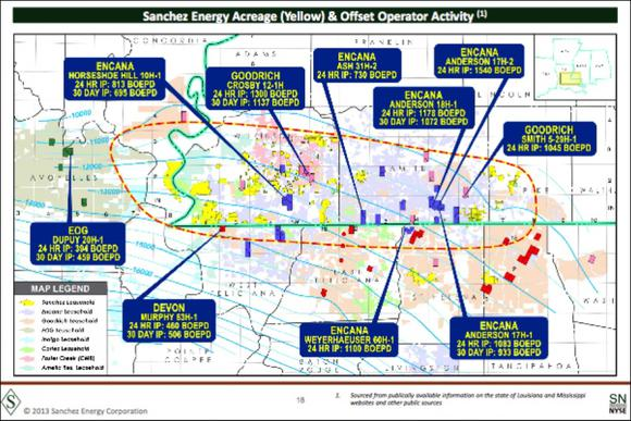 Sanchez Energy Tms Acreage