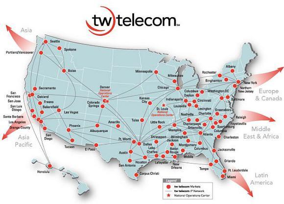 Tw Telecom Network Map
