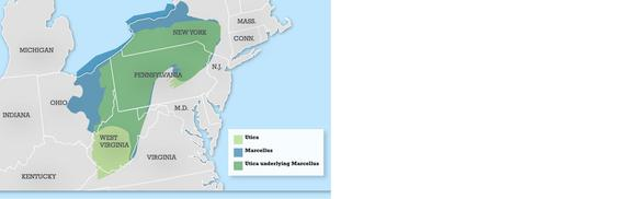 Marcellus Utica Map