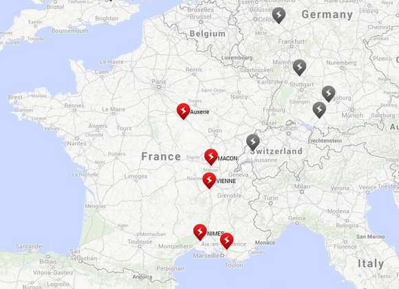 France Superchargers Tesla
