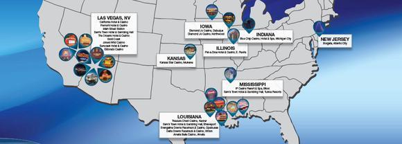 Boyd Gaming Map