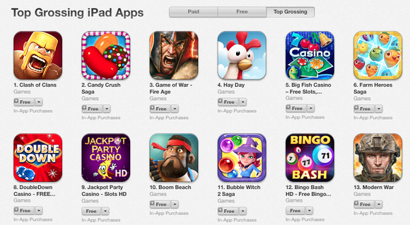 Clash Of Clans Leading Ipad Game Apple