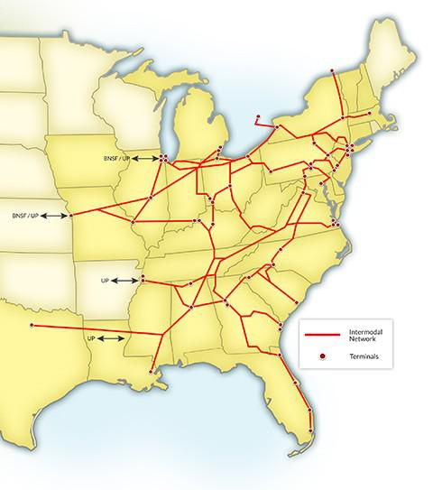 Nsc Intermodal Map