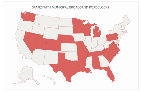 States With Municipal Roadblocks