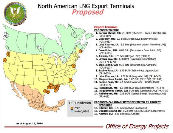 Map Of Lng Export Terminals