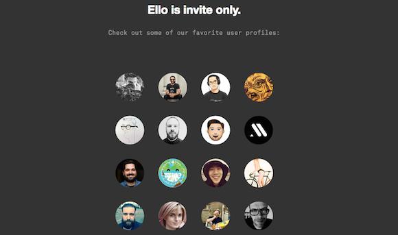 Ello Homepage