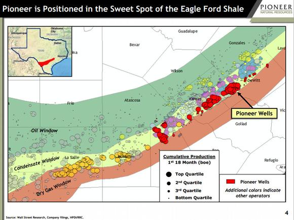 Pioneer Natural Resources Eagle Ford Shale Map