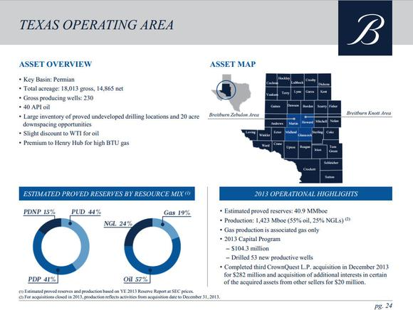 Breitburn Energy Partners Lp Texas