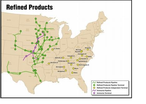 Magellan Pipeline Map