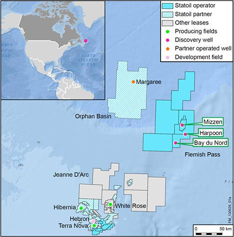 Statoil Offshore Drilling Map Canada