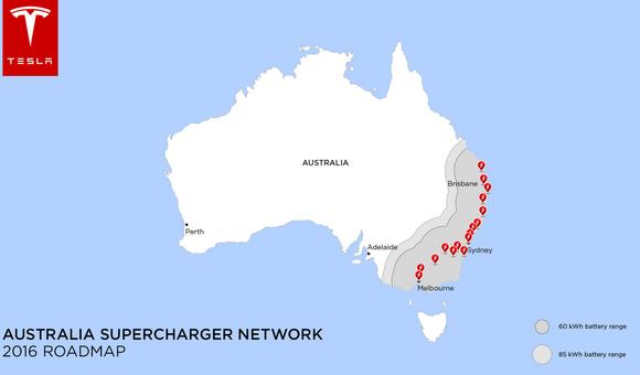 Tesla Australia Superchargers