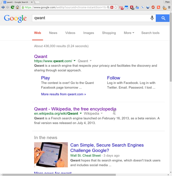 Search Google For Qwant