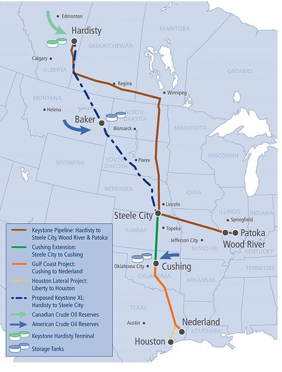 Keystone Xl Route