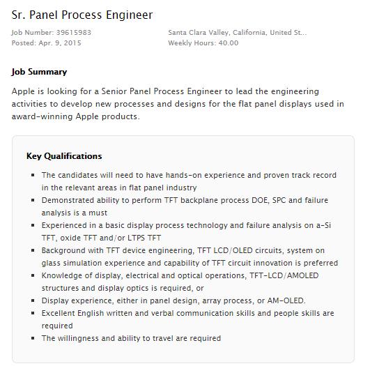 Apple Panel Process
