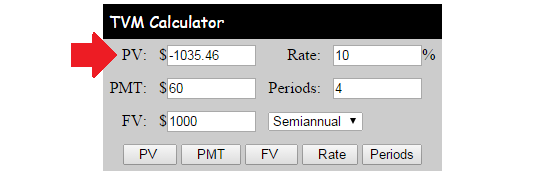 Bond Pricing Time Value Of Money Calculator