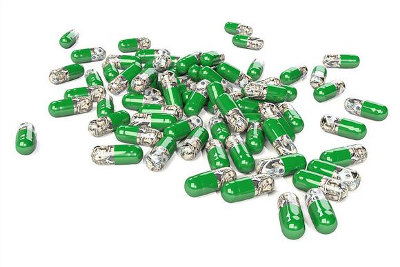 Money Inside Pills Flickr User Chris Potter