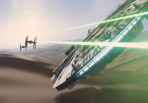 Millennium Falcon Tie Fighters The Force Awakens