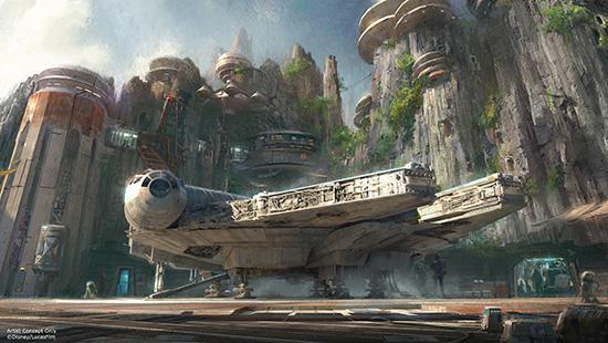 Star Wars Land Mock Up