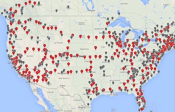 Tesla Charging Network Us Aug