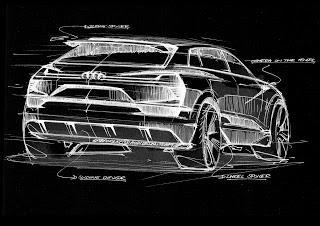 Audi Electric Suv Sketch Rear