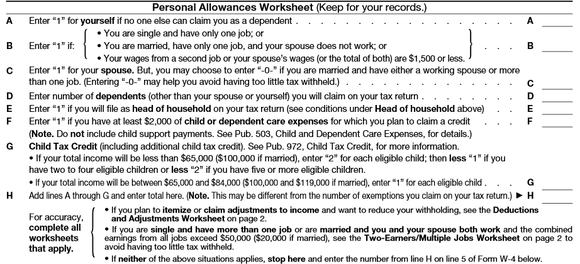 Worksheets W4 Worksheet how to fill out your w4 the right way motley fool w