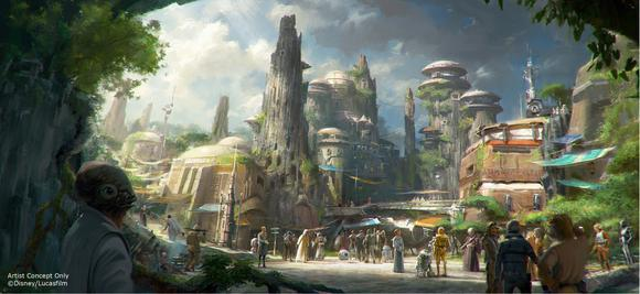 Star Wars Land Attractions Concept Art
