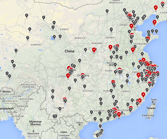 Tesla Charging Network China
