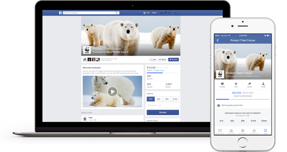 Facebook Fundraisers On Desktop And Mobile V