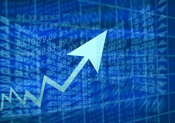 Stock Prices With Up Arrow