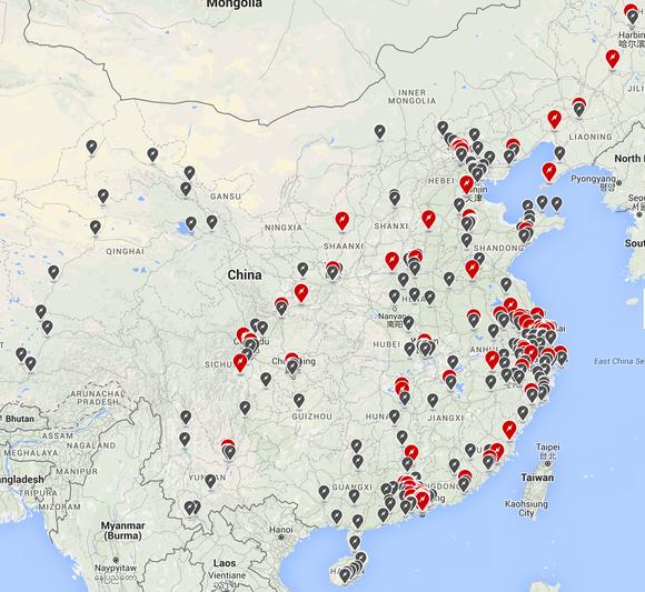 Tesla Charging Network China Jan