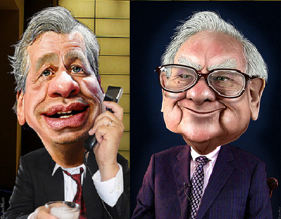 Jamie Dimon And Warren Buffett Caricature