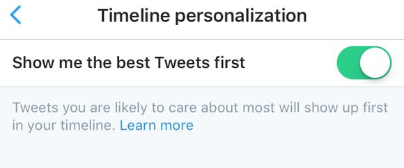 Twitter Timeline Tweet Order