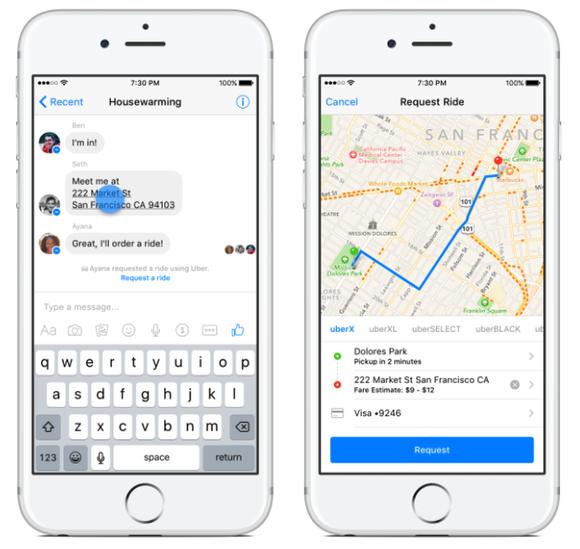Fb Uber Messenger Transportation